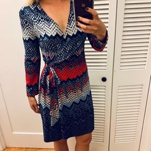 BCBG MAXAZRIA Snakeskin Print Wrap Dress
